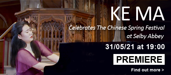 Besbrode Pianos is very happy to share with you Ke Ma Celebrates the Chinese Spring Festival at Selby Abbey. To mark the end of the Chinese Spring Festival and the start of spring in the UK, Selby Abbey plays host to a concert from world-class pianist, Ke Ma. Ke Ma's performance includes a combination popular Chinese folk and pop tunes and the classical behemoth, Ravel's Gaspard de la Nuit suite. Join us for the premiere on 31/05/2021 at 19:00 GMT on our YouTube channel