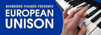 European Unison - Ruth Spencer Jolly. Ruskin graduate, Ruth Spencer-Jolly showcases a eulogy to Brexit, a new composition for 28 pianos. 28 pianists will play 28 Steinway pianos, linking pianos, politics and polyphony, to play out the history of the EU from birth to Brexit 26th March 2017 6pm - 7pm at Besbrode Pianos