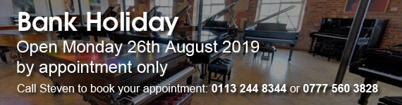 August Bank Holiday Opening Hours. Open Saturday as usual. Open Monday 26th August by appointment only. Call Steven on 0775603828 or 01132448344 to book your appointment.