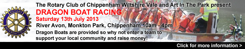 The Rotary Club of Chippenham Wiltshire Vale in conjunction with Art In The Park present
