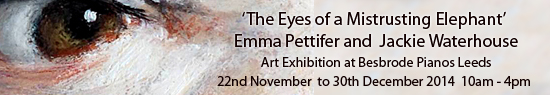Leeds born Artists Emma Pettifer and mother Jackie Waterhouse showcase an eclectic mix of Portraiture, Impressionism and Abstract in mixed media