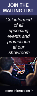 Besbrode Pianos regularly holds free events and promotions at our Leeds showroom. Join the mailing list and get informed of all upcoming performances and discounts