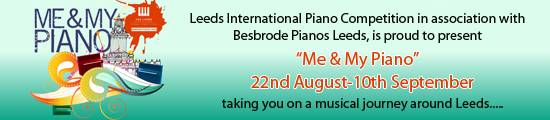Leeds International Piano Competition in association with Bestrode Pianos Leeds, is proud to present Me & My Piano, an exciting art installation coming to the city of Leeds this summer. Running from 22nd August-10th September 12 pianos will be placed around the city free for the public to play and engage with