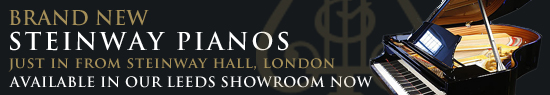 Brand new Steinway Pianos just in from Steinway Hall London. Come down to the showroom to give one a try