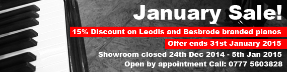 Besbrode Pianos January Sale banner