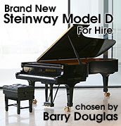 Steinway Model D Grand Piano available for hire chosen by Barry Douglas