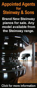 In Partnership with Steinway and Sons,BRAND NEW Steinway pianos for sale. Limited range available NOW in store. Any model available to order from the Steinway range. Click here for more details.