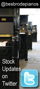 Get stock update via Twitter. Keep up with whats new in store at Besbrode Pianos Leeds